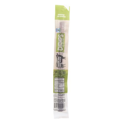 Chomps Beef Sticks - Hoppin Jalapeno - Case of 24 - 1.15 oz