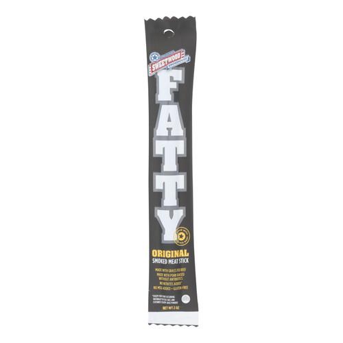 Sweetwood Jerky Company Meat Stick - Fatty - Original - Case of 20 - 2 oz