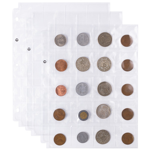 20-pocket Coin Sleeves, 20-pack