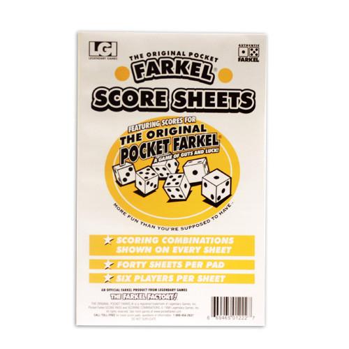 Farkel Score Sheets