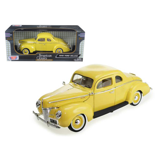1940 Ford Coupe Deluxe Yellow 1/18 Diecast Car Model by Motormax 73108y