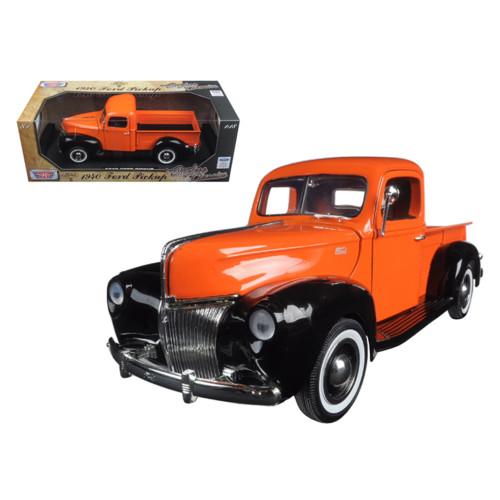 1940 Ford Pickup Truck Orange Timeless Classics 1/18 Diecast Model Car by Motormax 73170OR-TC