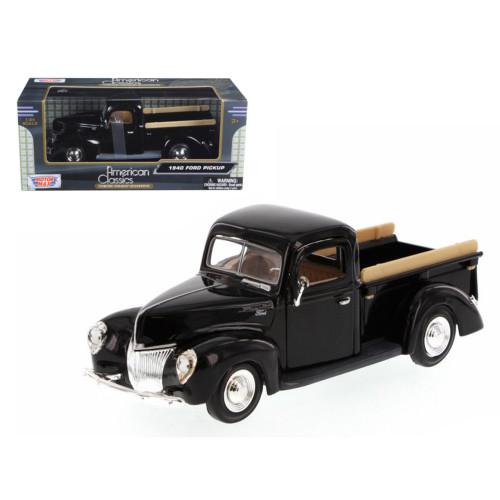 1940 Ford Pickup Truck Black 1/24 Diecast Model Car by Motormax 73234bk