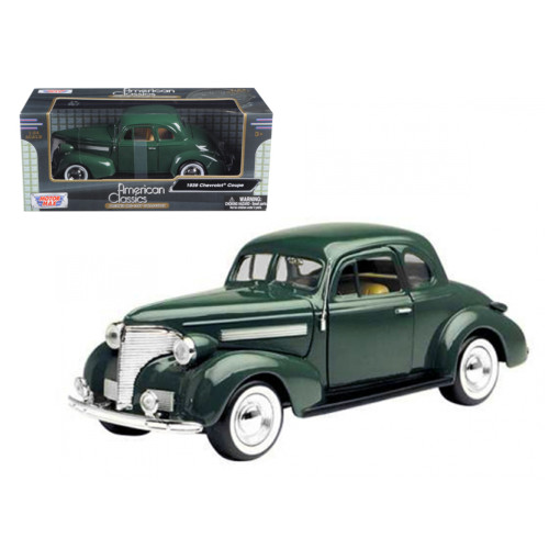 1939 Chevrolet Coupe Green 1/24 Diecast Model Car by Motormax 73247grn