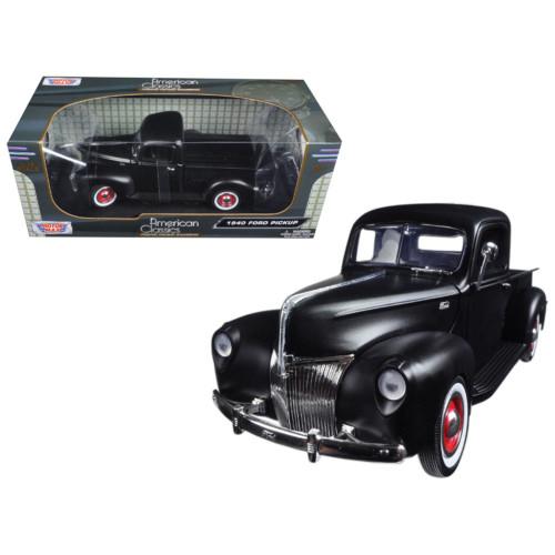 1940 Ford Pickup Matt Black 1/18 Diecast Model Car by Motormax 73170AC-MTBK