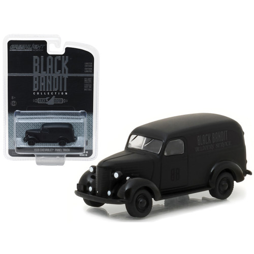 1939 Chevrolet Panel Van Black Bandit 1/64 Diecast Model Car by Greenlight 27930F