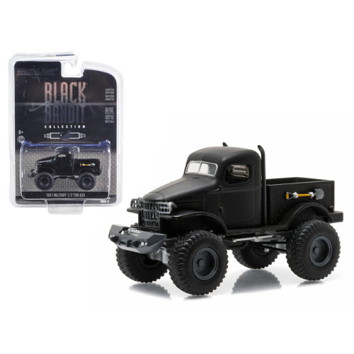 1941 Military 1/2 Ton 4x4 Pick Up Truck Black Bandit 1/64 Diecast Model by Greenlight 27840A
