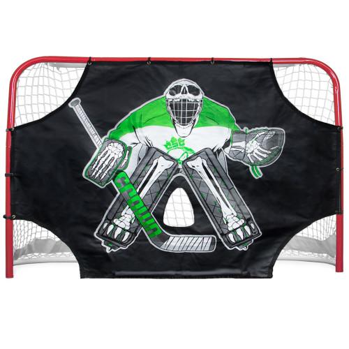 """Green Skull Sniper Street Hockey Shooting Target 72"""" x 48"""""""