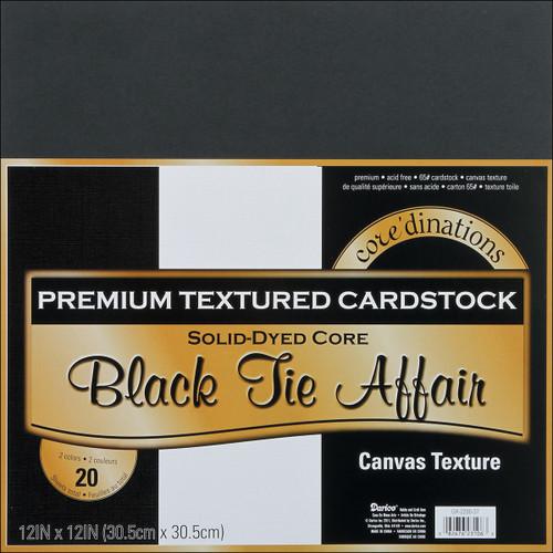 Canvas Cardstock 12 X12 Inches Black Tie Affair