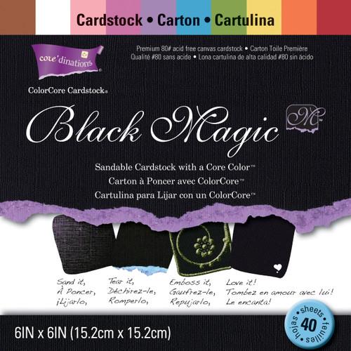 Black magic Cardstock Pad 6 X6 Inches