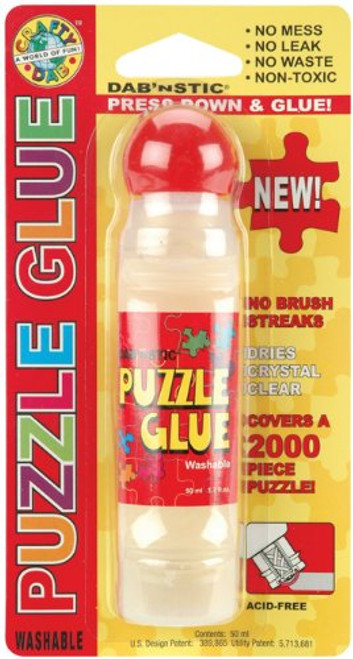 Crafty Dab 59701 Washable Puzzle Glue Bottle, 1.7-Ounce