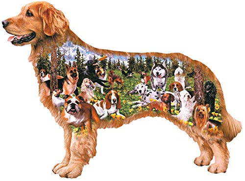 CRA-Z-ART/LAROSE INDUSTRIES Dog Park Shaped Puzzle 350