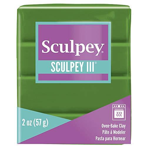 Sculpey III Polymer Clay Leaf Green 2 oz
