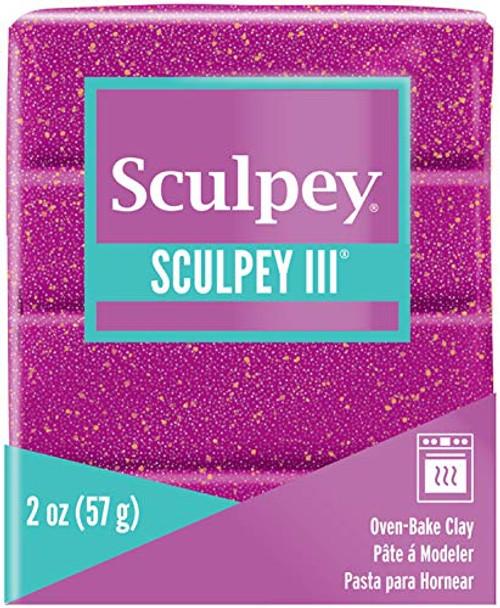 Sculpey III Polymer Clay Violet Glitter