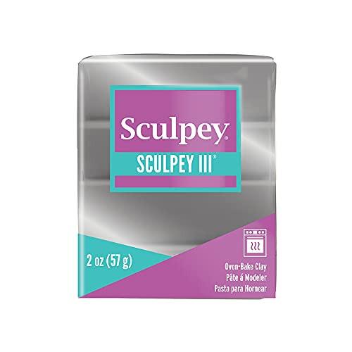 Sculpey III Polymer Silver 2 oz