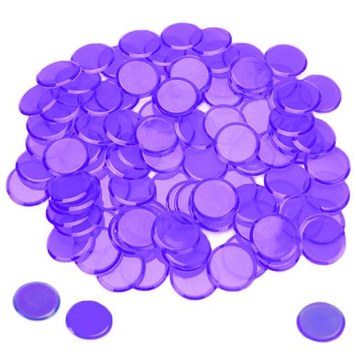 100 Pack Purple Bingo Chips