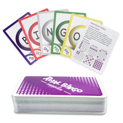 Pack of 81 Bingo Calling Cards - Pocket-Sized, Easy-Read