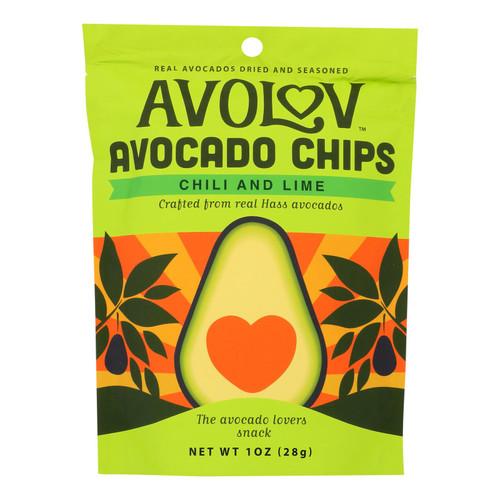 Avolov - Avocado Chips - Chili Lime - Case of 12 - 1.5 oz.