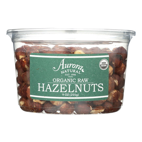 Aurora Natural Products - Organic Raw Hazelnuts - Case of 12 - 9 oz.