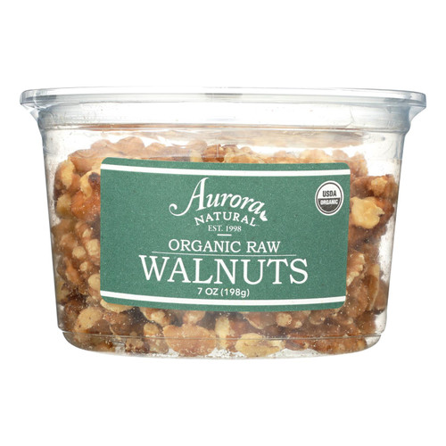Aurora Natural Products - Organic Raw Walnuts - Case of 12 - 7 oz.