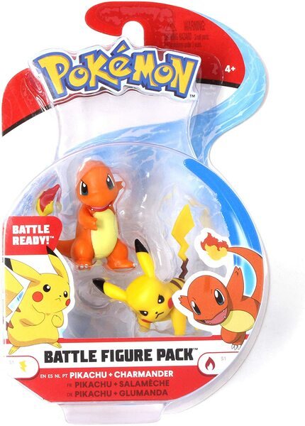 Battle Figure Pack Pikachu and Charmander