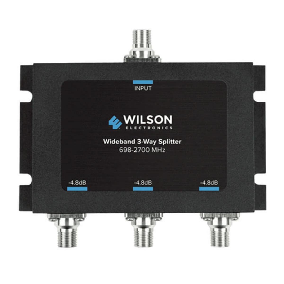Wilson Electronics -4.8db 3-way Splitter for 698-2700 MHz 75ohm | 850035