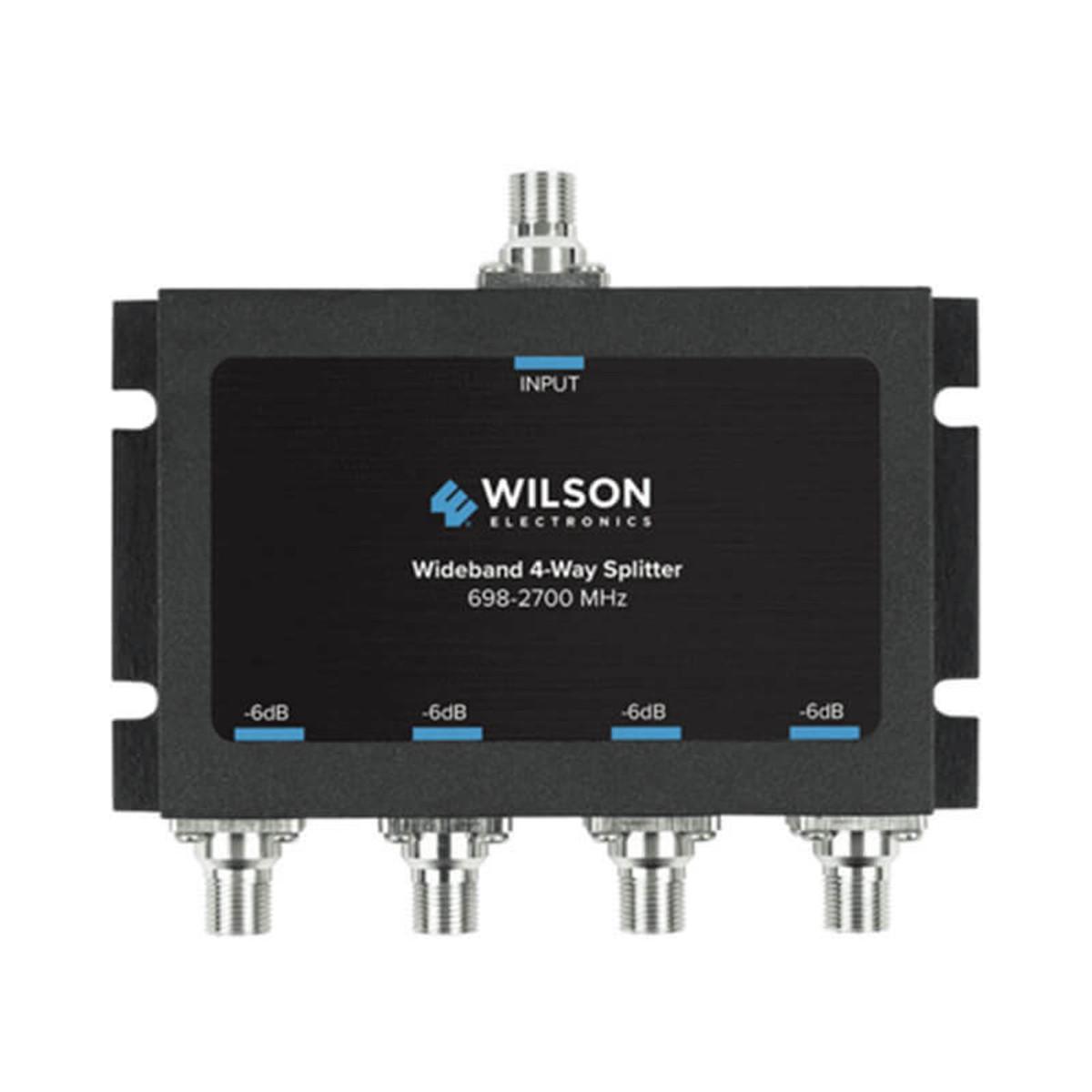 Wilson Electronics -6db 4-way Splitter for 698-2700 MHz 75ohm | 850036