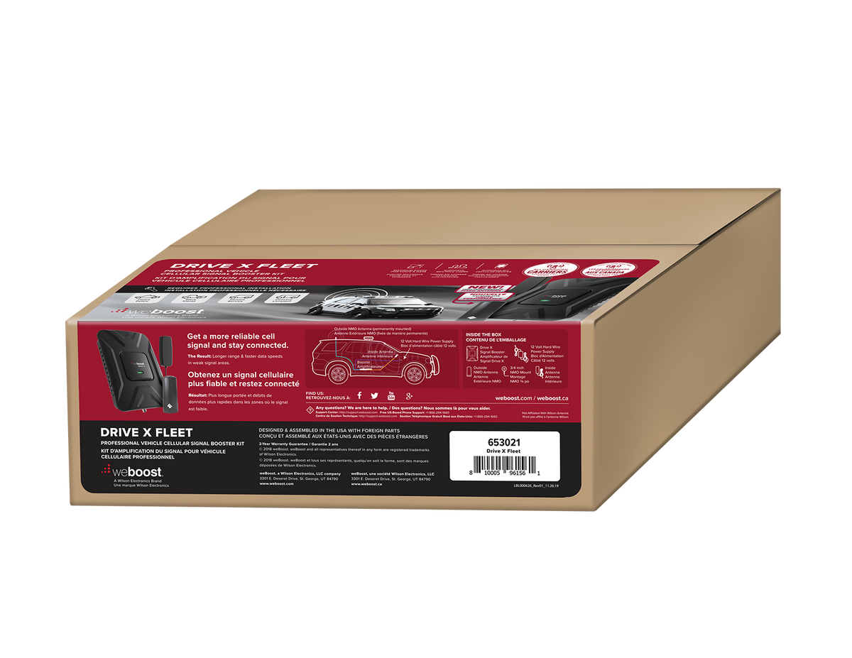 weBoost Drive X Fleet Cell Phone Signal Booster Packaging - 653021