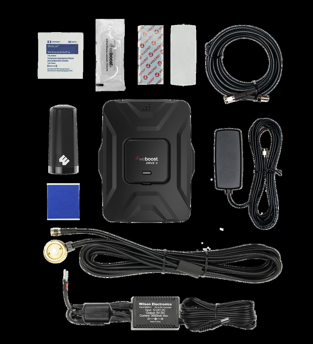 weBoost Drive X Fleet Cell Phone Signal Booster Kit  w/ all Accessories