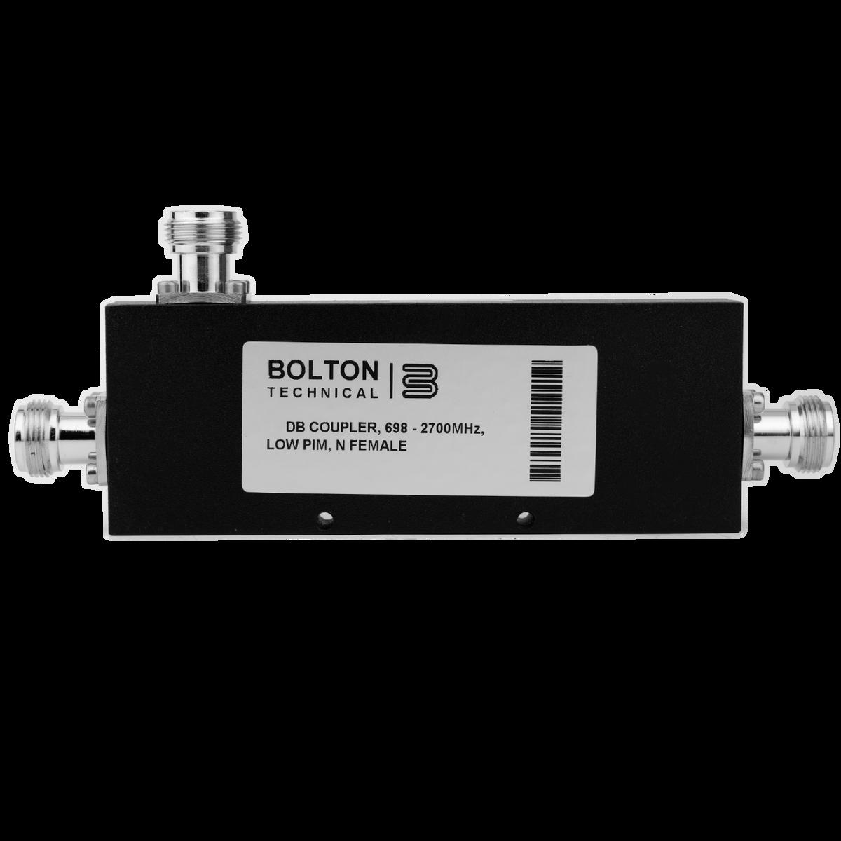 Bolton Technical 10 dB Coupler, 698-2700 MHz, Low-PIM, N-Female