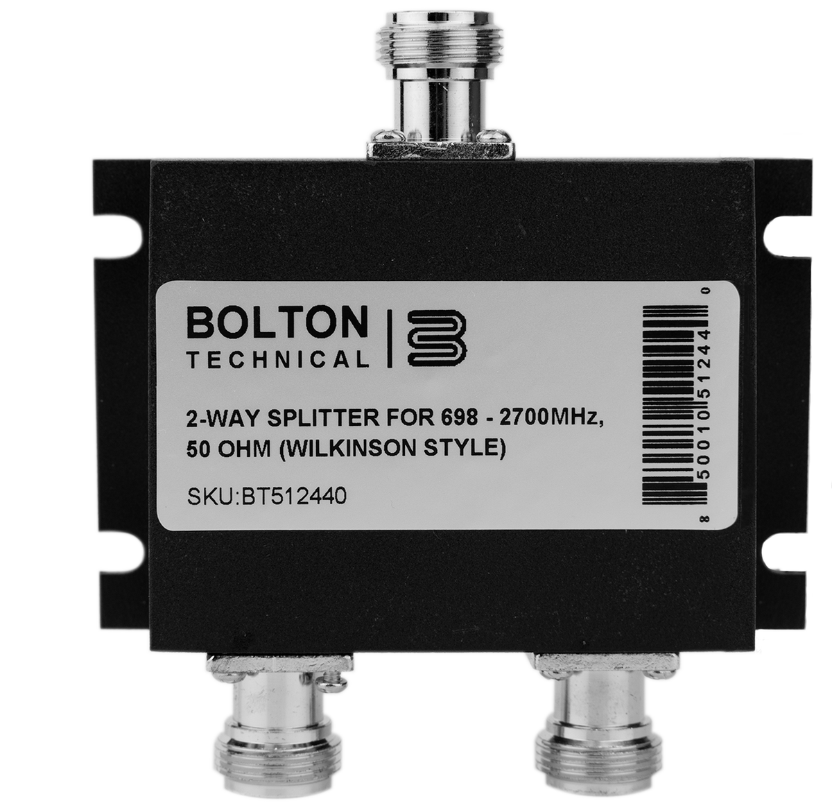 Bolton Technical Low-PIM 2-Way Splitter 698-2700Mhz 50 Ohm  (Wilkinson Style)