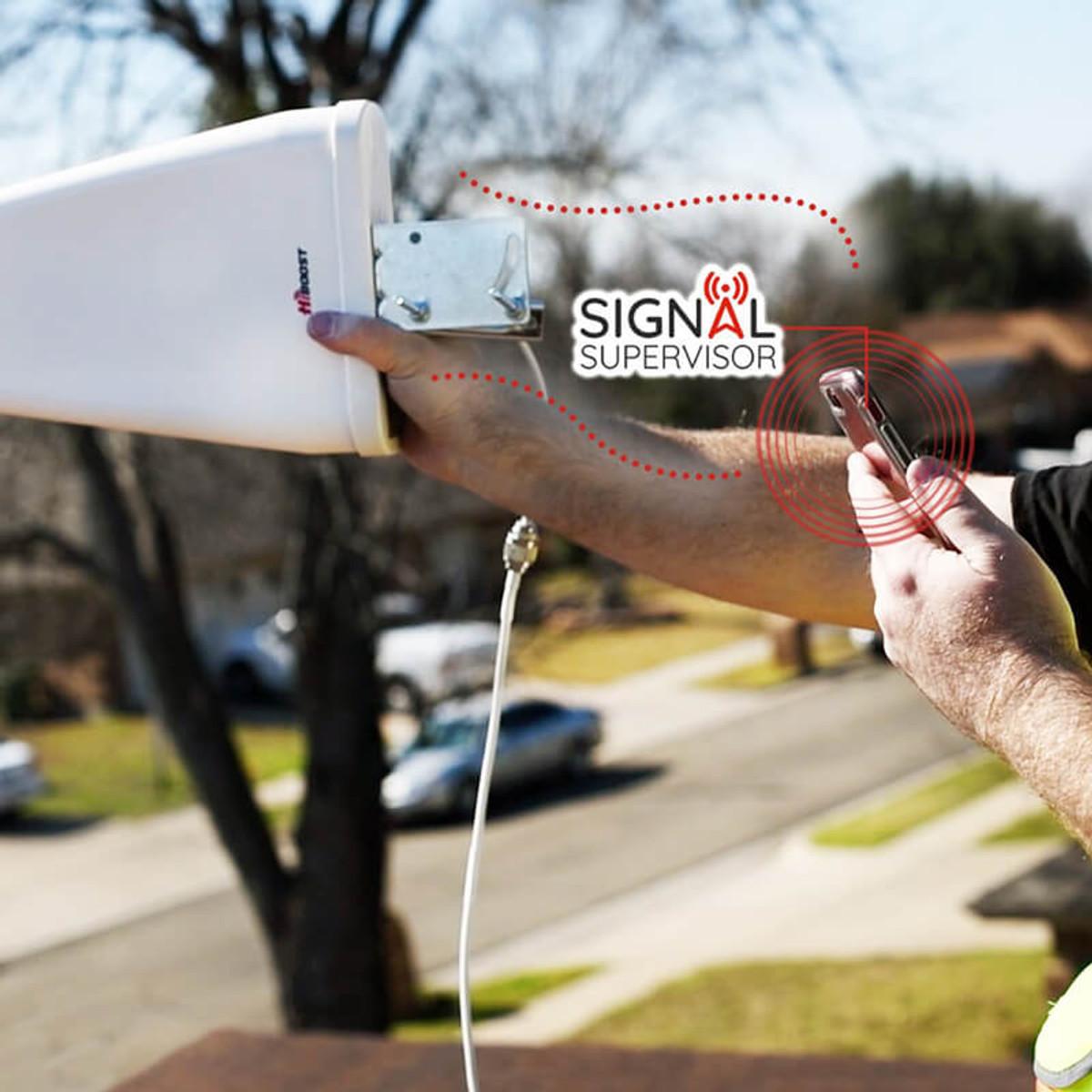 HiBoost Home 15K Smart Link Signal Booster Roof-Mounted Yagi Antenna
