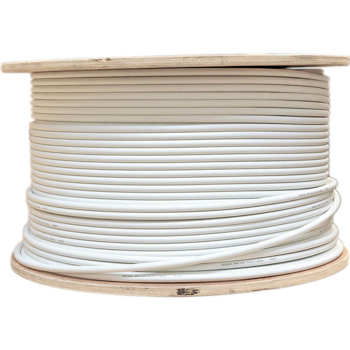 Bolton Technical Bolton400 White Ultra Low-Loss Cable Spool | 500ft