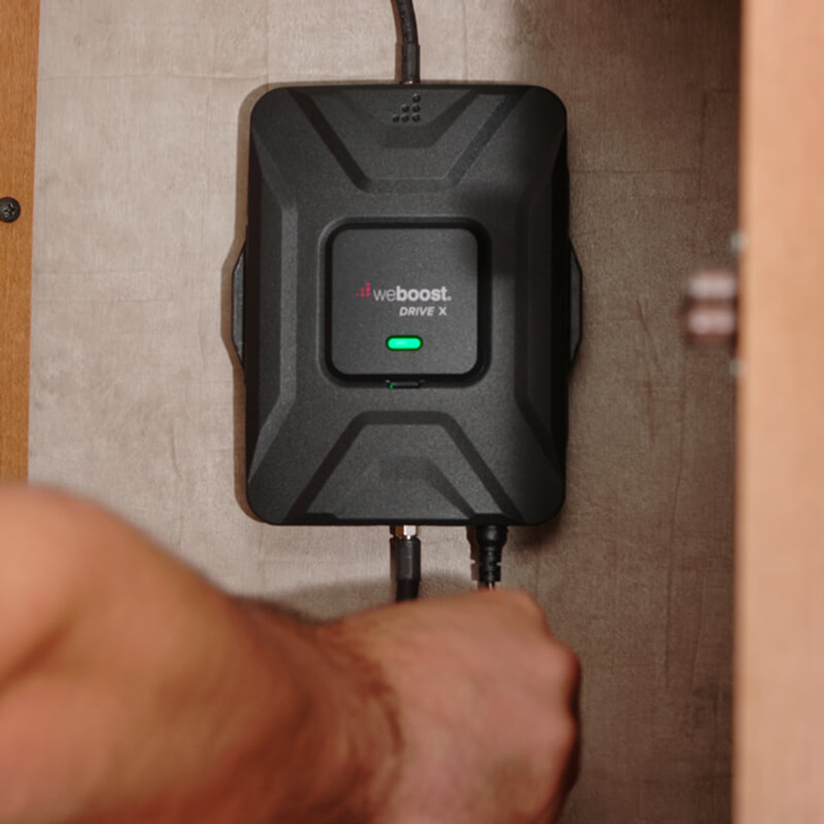 weBoost Drive X RV Cell Phone Signal Booster Amplifier - Installed