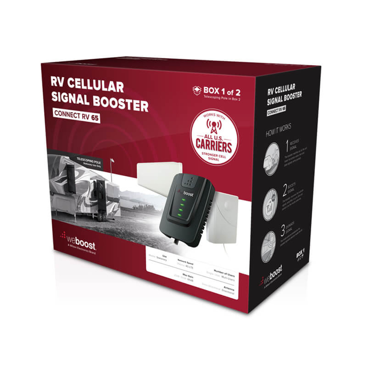 weBoost Connect RV 65 Cellphone Signal Booster Kit - 471203F