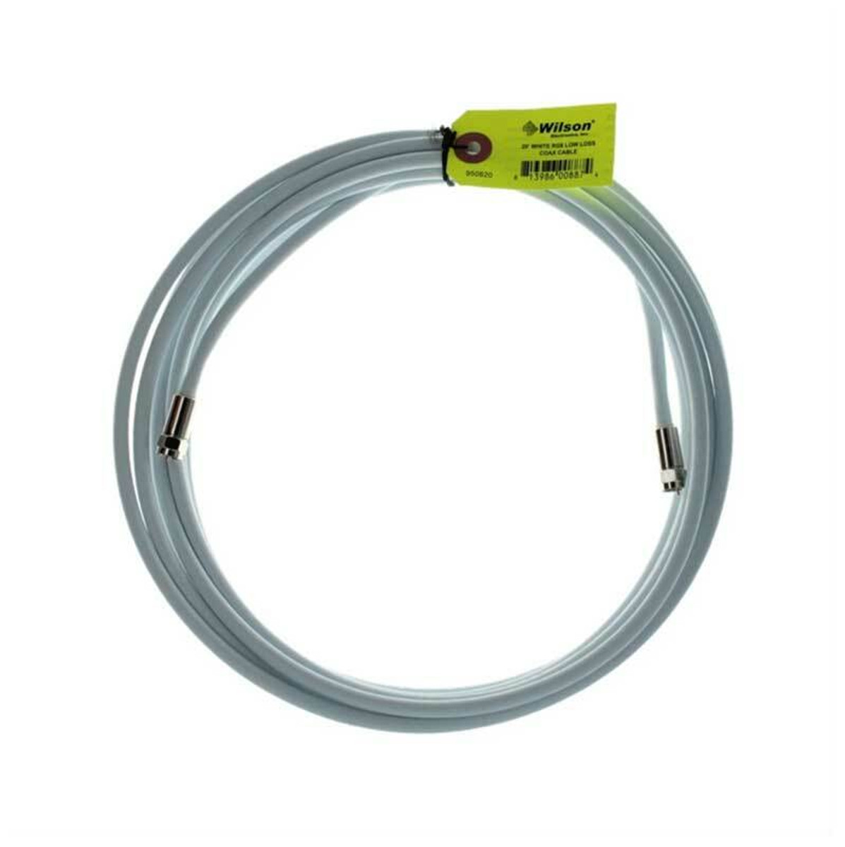 weBoost (Wilson) 950620 RG6 F-Male to F-Male | 20 ft White Cable