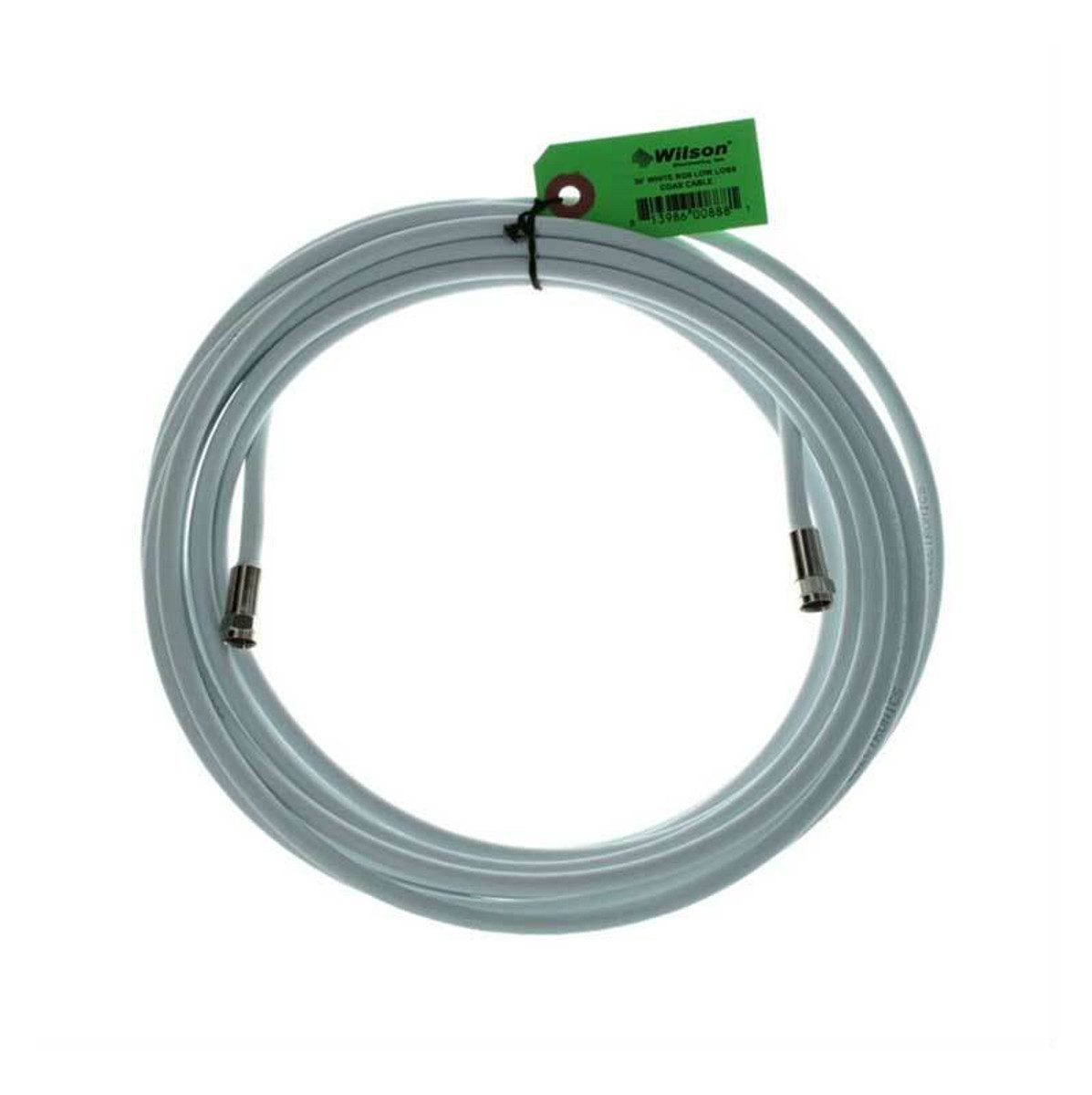 weBoost (Wilson) 950630 RG6 F-Male to F-Male | 30 ft White Cable