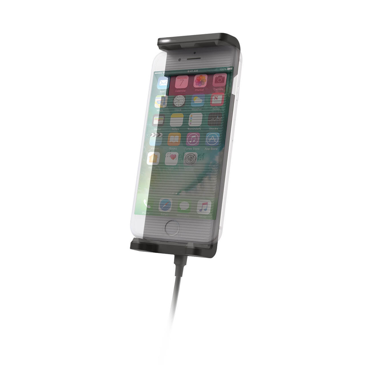 weBoost Drive Sleek OTR 4G Cell Phone Booster - cradle with phone