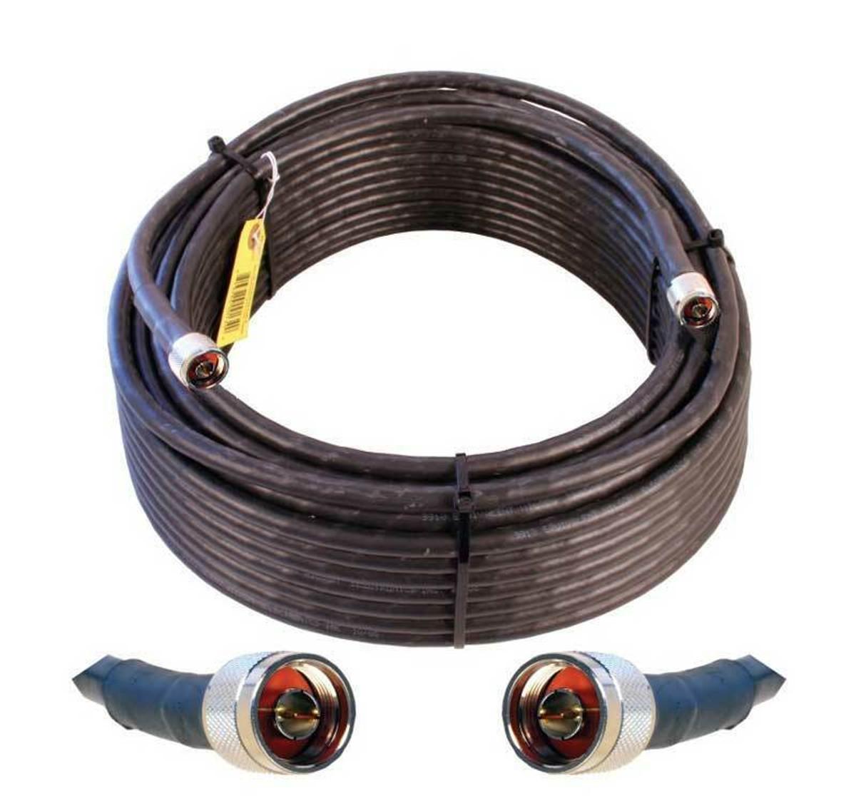weBoost (Wilson) 952300 Wilson 400 N-Male to N-Male | 100 ft Black Cable
