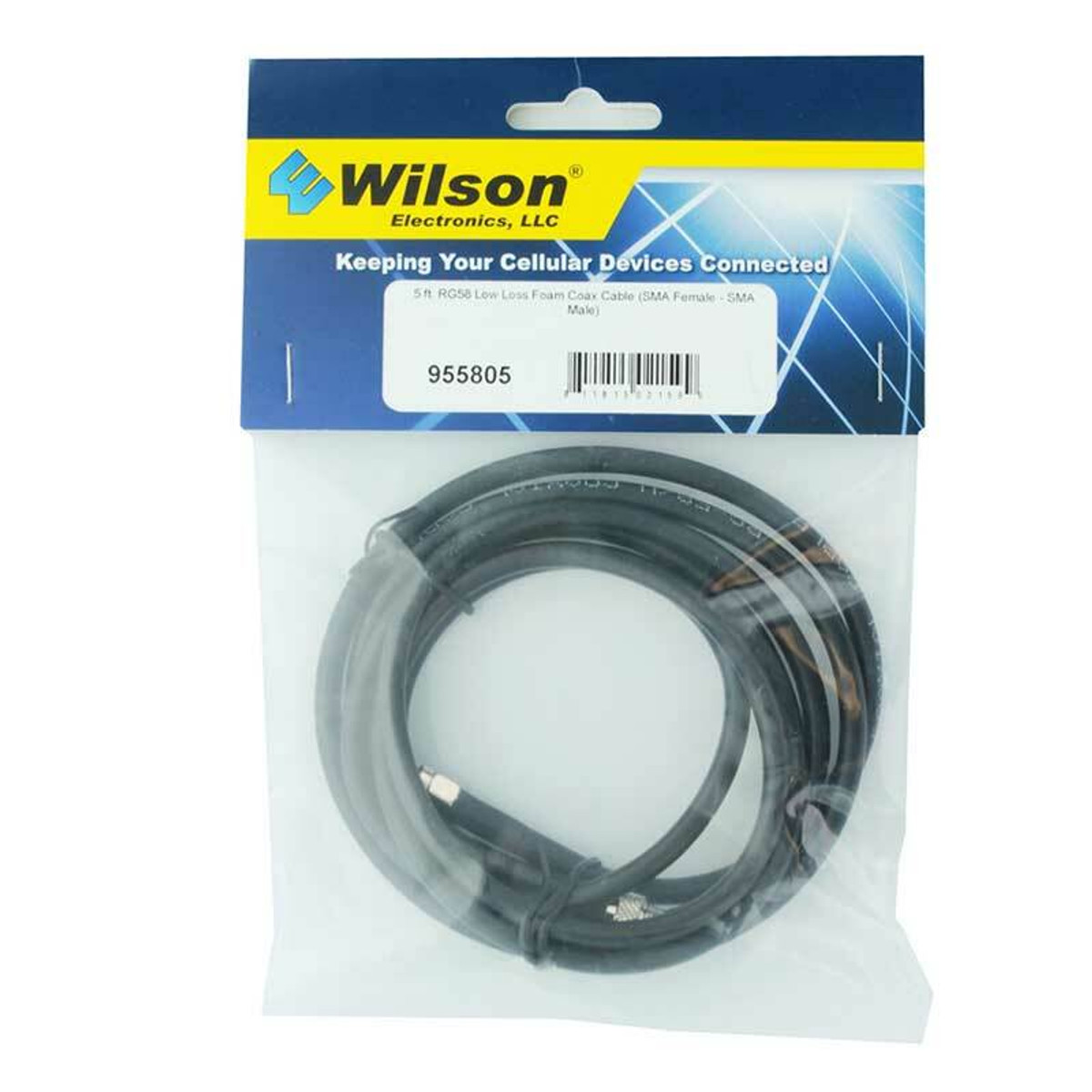 weBoost (Wilson) 955805 RG58 Extension SMA-Female to SMA-Male | 5 ft Black Cable