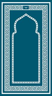 Foldable Sajda Mat (Teal)