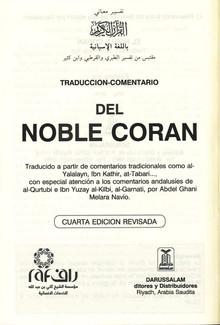 Traduccion-Comentario del Noble Coran (Cuarta Edicion)