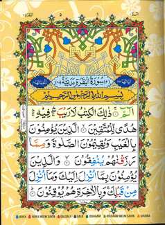 Quran Color Coded Tajweed Glossy Paper Majeedi Script 13 Lines Large size