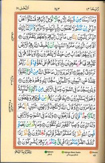 Quran Hafzi Ref. 226 with Color Coded Tajweed Rules 9x6