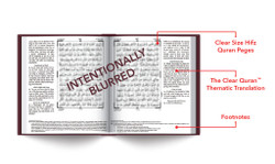 The Clear Quran® Series – with Arabic Text, Majeedi (Indo-Pak) Script 15 Lines - Hifz Gift Edition | Leather
