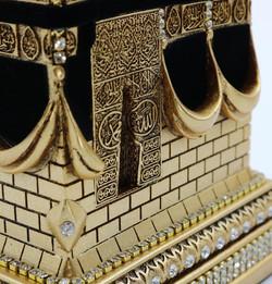 Islamic Table Decor - Kabba Black & Gold- (Big Size)