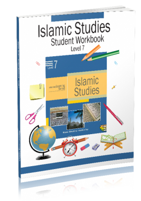 The Level  7 Islamic Studies Workbook is designed to complement the textbook for this level. The workbook has large number of test questions to cover each lesson in a comprehensive manner.