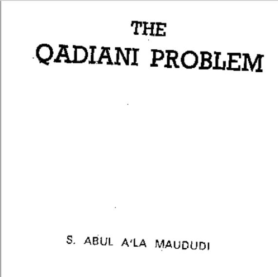The Qadiani Problem (E-Book)
