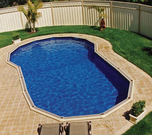 Keyhole Shape Pool Liner for Sterns 7.6m x 4.8m  Pool, Australian Made