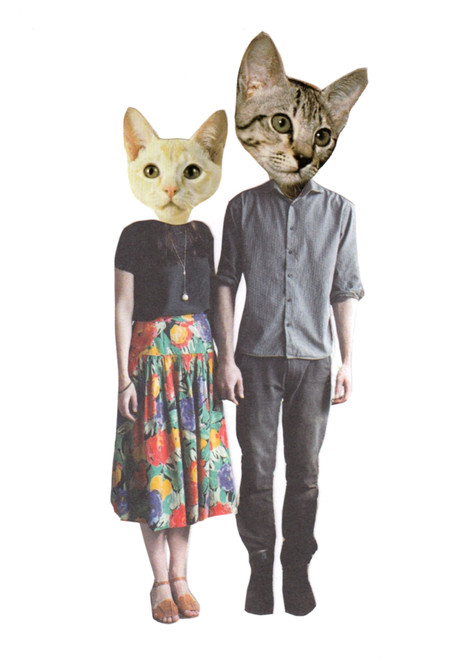 'FASHCAT KITTY COUPLE' PRINT